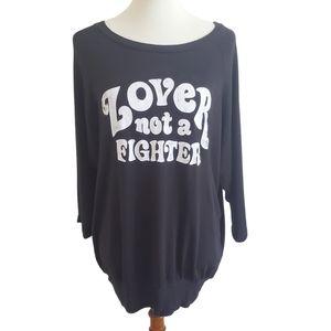 Daydreamer Lover Not Fighter Black Sweatshirt